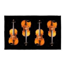 Viola / Violin Designs 3'x5' Area Rug