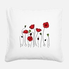 Poppies Square Canvas Pillow