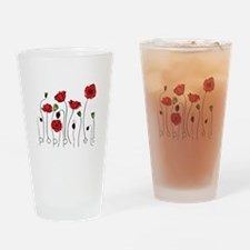 Poppies Drinking Glass