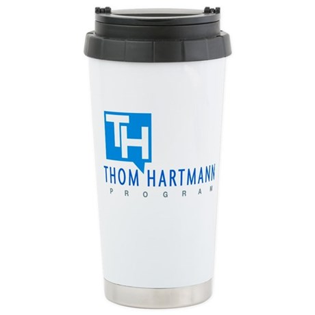 Thom Hartmann Logo Stainless Steel Travel Mug