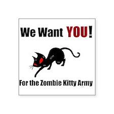 Zombie Kitty Army Sticker