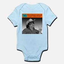 There's 2 theories... Infant Bodysuit