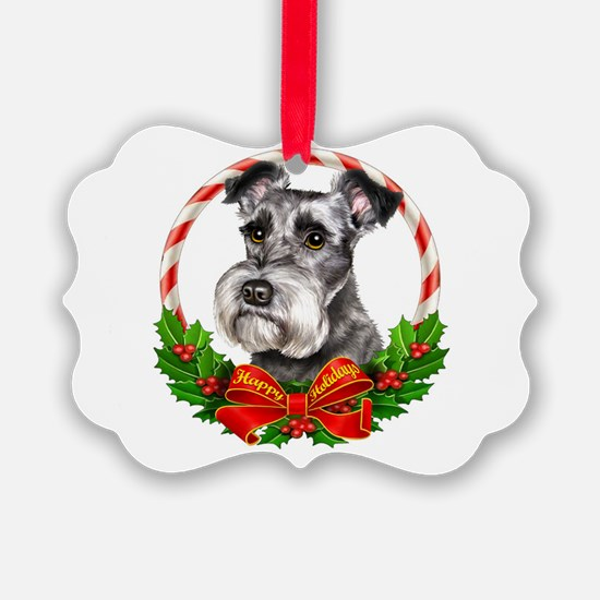 Cute Schnauzer Ornament