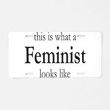 Unique Feminism Aluminum License Plate