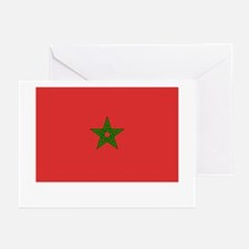 Morocco Flag Picture Greeting Cards (Pk of 10)