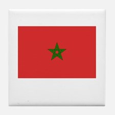 Morocco Flag Picture Tile Coaster