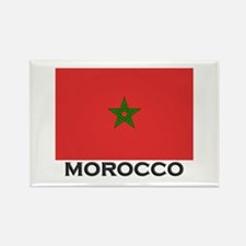 Morocco Flag Stuff Rectangle Magnet