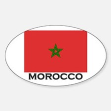 Morocco Flag Stuff Oval Decal
