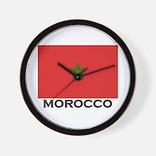 Morocco Flag Stuff Wall Clock