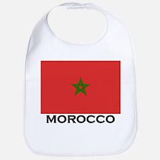 Morocco Flag Stuff Bib