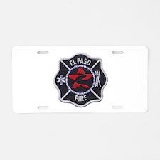 El Paso Fire Aluminum License Plate