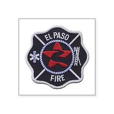 """El Paso Fire Square Sticker 3"""" x 3"""""""