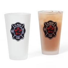 El Paso Fire Drinking Glass