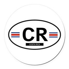 COSTA RICA.png Round Car Magnet