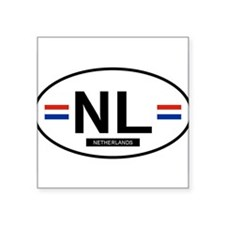 "NETHERLANDS.png Square Sticker 3"" x 3"""