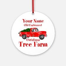 Custom Tree Farm Ornament (Round)