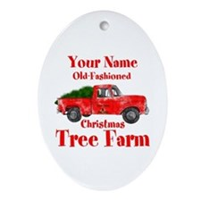 Custom Tree Farm Ornament (Oval)