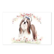 Shih Tzu Flowers Postcards (Package of 8)