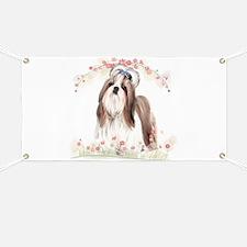 Shih Tzu Flowers Banner