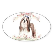 Shih Tzu Flowers Decal
