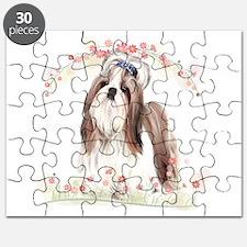 Shih Tzu Flowers Puzzle