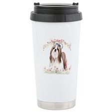 Shih Tzu Flowers Travel Mug