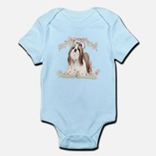 Shih Tzu Flowers Infant Bodysuit