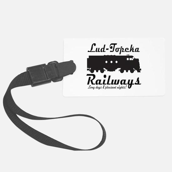 Lud-Topeka Railways Luggage Tag