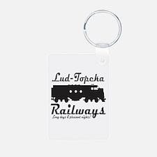 Lud-Topeka Railways Keychains