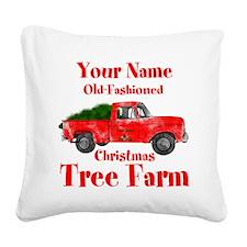 Custom Tree Farm Square Canvas Pillow