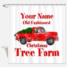 Custom Tree Farm Shower Curtain