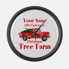 Custom Tree Farm Large Wall Clock