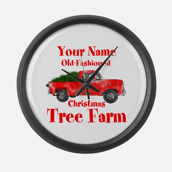 Custom Tree Farm Large Wall Clock