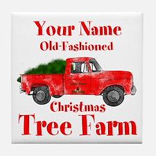 Custom Tree Farm Tile Coaster