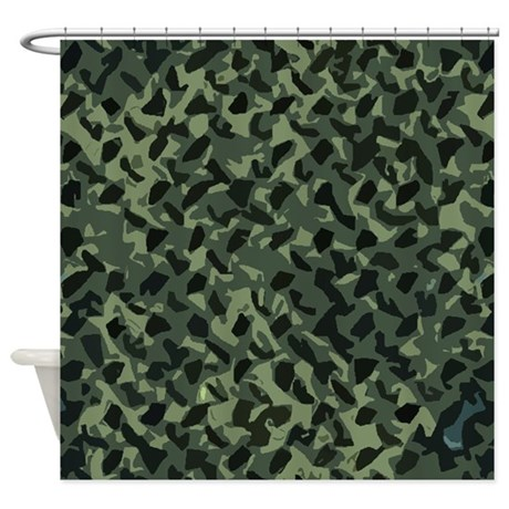 Camouflage Shower Curtain By Poptopia1