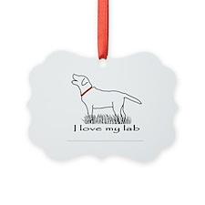 Love My Lab Ornament