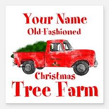 """Custom Tree Farm Square Car Magnet 3"""" x 3"""""""