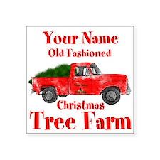 "Custom Tree Farm Square Sticker 3"" x 3"""