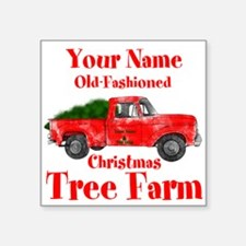 "Custom Tree Farm Square Sticker 3"" x 3"""