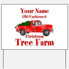 Custom Tree Farm Yard Sign