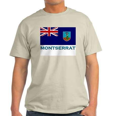 Flag of Montserrat Ash Grey T-Shirt