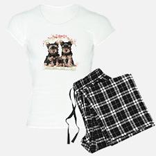 Yorkie Flowers Pajamas