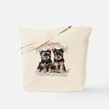 Yorkie Flowers Tote Bag