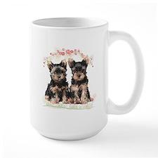 Yorkie Flowers Mug