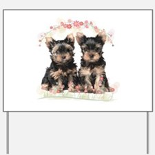 Yorkie Flowers Yard Sign