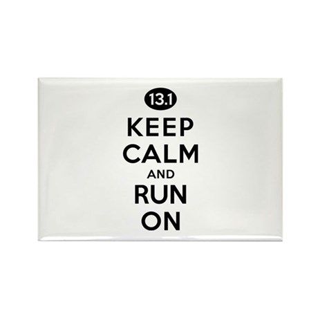 Keep Calm and Run On 13.1 Rectangle Magnet