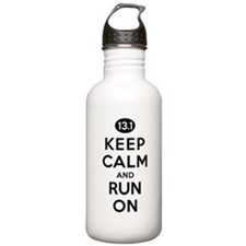 Keep Calm and Run On 13.1 Water Bottle