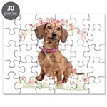 Dachshund Flowers Puzzle