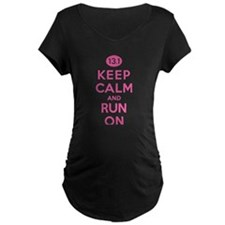 Keep Calm and Run On 13.1 Pink T-Shirt