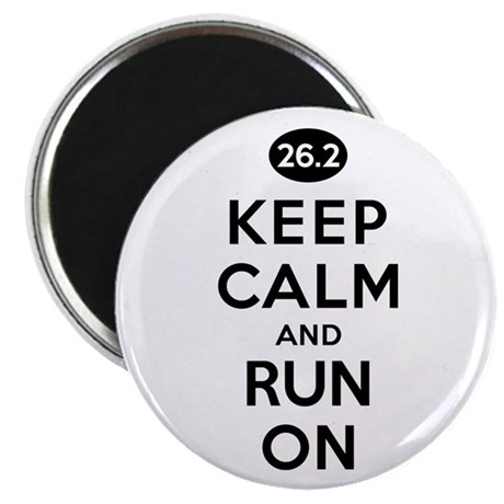 Keep Calm and Run On 26.2 Magnet